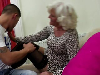 Grandma go hard with young pervert boy