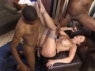 Hot mature mom Janet Mason creampied by..