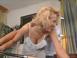 Big Boobs Blonde Stepmom Lost A Bet In..