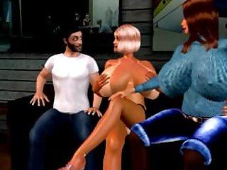 Part !: Virtual 3D Marti Seduces Her Son..