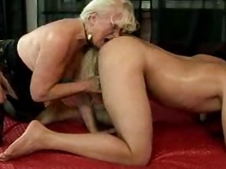 Blond Granny And Young Boy