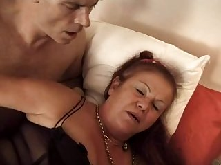 FRENCH MATURE 16 hairy anal mom milf..